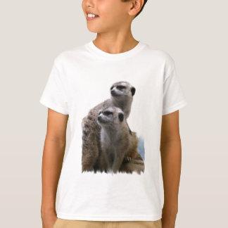 La camiseta del niño de los pares de Meerkat