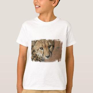 La camiseta del niño del gato del guepardo