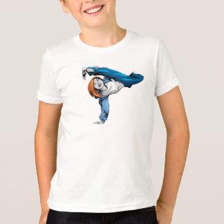 La camiseta del niño del handstand del Bgirl