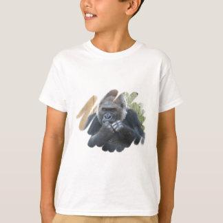 La camiseta del niño del primate del gorila