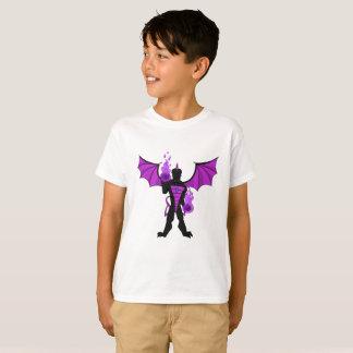 La camiseta del niño HEROICO del dragón de la