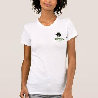 La camiseta del oso de las mujeres justas de la