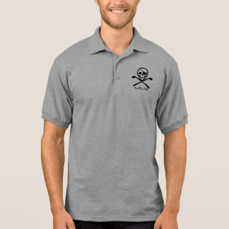 La camiseta del pirata del golf apagado o muere