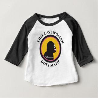 La camiseta del raglán del bebé esta los Cavewoman
