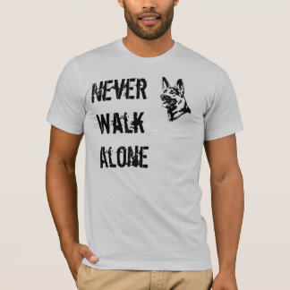 La camiseta del rescate del pastor alemán nunca