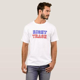 La camiseta derecha oficial de la basura
