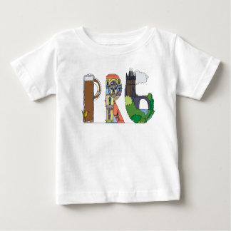 La camiseta el | PRAGA, CZ (PRG) del bebé
