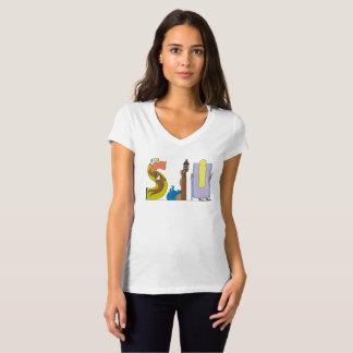 La camiseta el   SAN JUAN, banda (SJU) de las