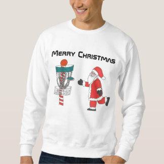La camiseta fea del navidad del golf del disco