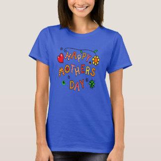 La camiseta feliz de las mujeres del día de madre