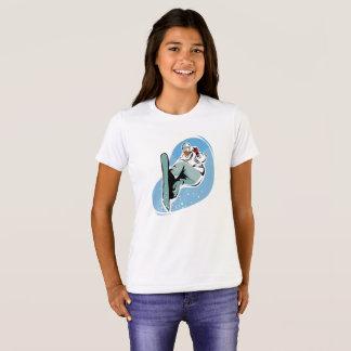 La camiseta gráfica del chica de la snowboard del