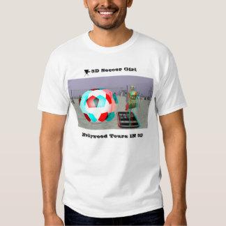 La camiseta Hollywood del chica del fútbol de la