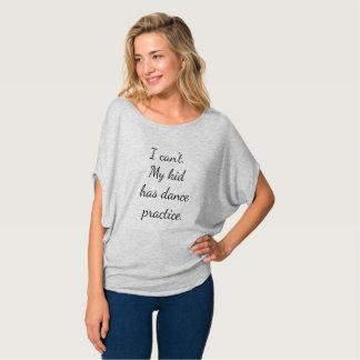 La camiseta I no puede mi niño tiene práctica de