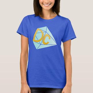 La camiseta impresionante de DC (mujeres (azul