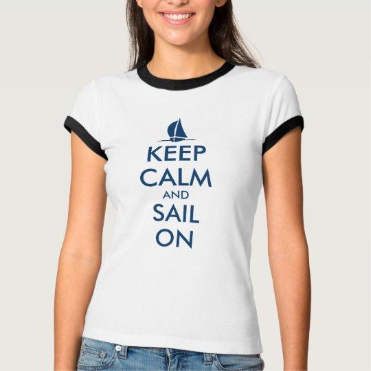 La camiseta linda de la navegación para las