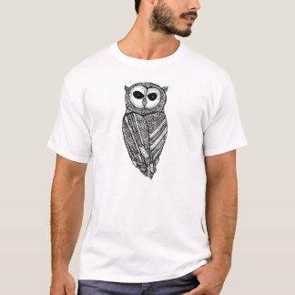 La camiseta majestuosa del búho (búho negro)