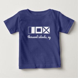 La camiseta náutica de la bandera,