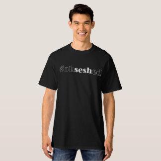 """La camiseta negra """"#obseshed"""" de los hombres"""