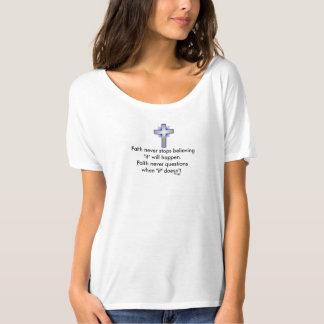 La camiseta nunca desgarbada w/Blue de la fe