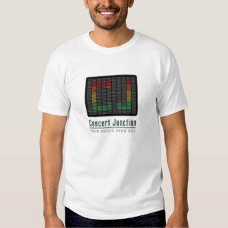 La camiseta oficial del empalme del concierto