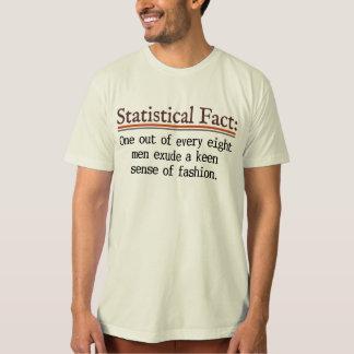 La camiseta orgánica de los hombres estadísticos