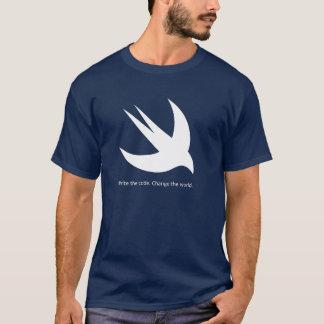 La camiseta oscura básica de los hombres rápidos
