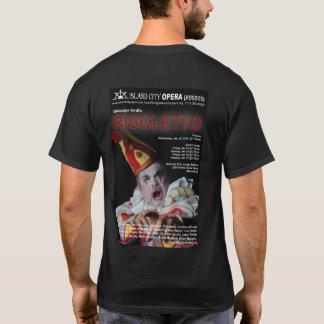 La camiseta oscura de los hombres de Rigoletto de