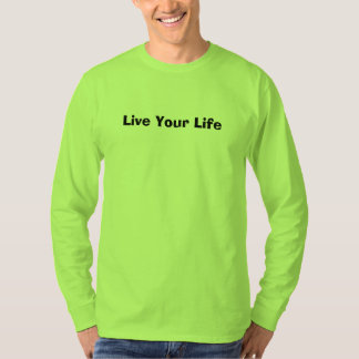 La camiseta para hombre verde de la seguridad vive