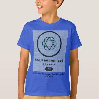 La camiseta seleccionada al azar de los niños de
