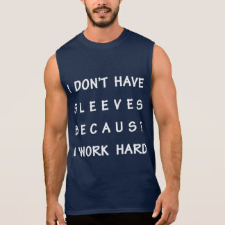La camiseta sin mangas de los hombres