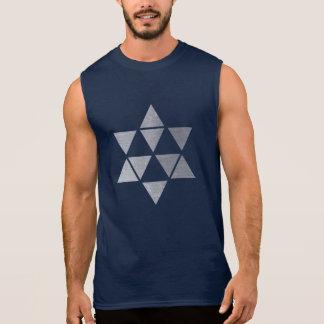 la camiseta sin mangas de los hombres de plata de