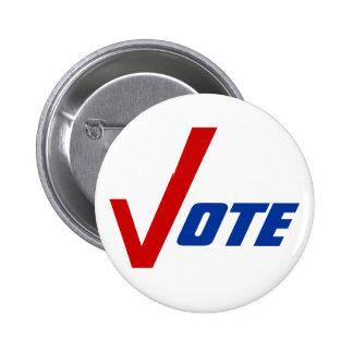 La campaña política del Pin-detrás de los botones  Chapa Redonda 5 Cm