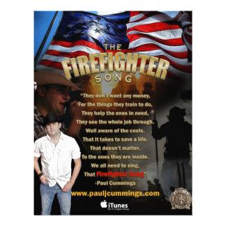 La canción del bombero - aviadores del HQ Folleto 21,6 X 28 Cm