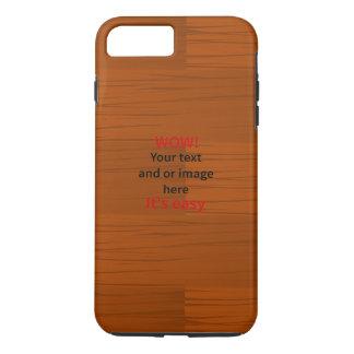 La capa baja de madera añade su propio texto funda iPhone 7 plus