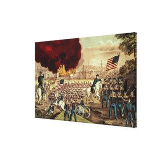 La captura de Atlanta del Ejército de la Unión Impresión En Lienzo Estirada