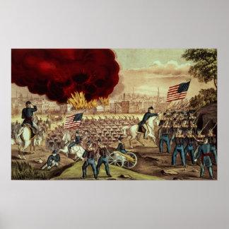 La captura de Atlanta del Ejército de la Unión Posters