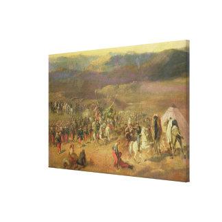 La captura del Retinue de Abdelkader Impresion En Lona