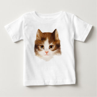 La cara del gatito embroma la camiseta 2
