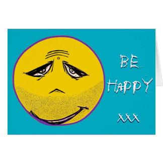 La cara sonriente Guru sea tarjeta feliz