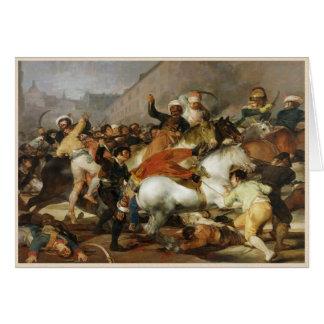 La carga de Mamelukes Francisco José de Goya Tarjeta Pequeña