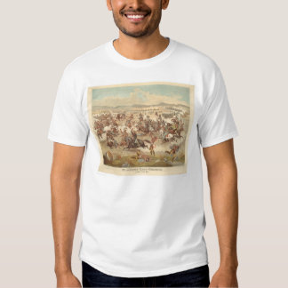 La carga pasada de Custer (0481A) Camisetas