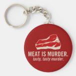 La carne es asesinato, asesinato sabroso llaveros personalizados
