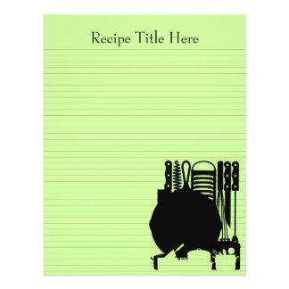 La carpeta de la receta cubre el personalizable 8. tarjetón