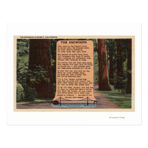 La carretera de la secoya, poema de Strauss Postal