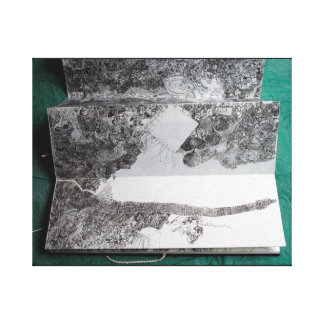 La carta blanca vierte 1 combate de Course C del Impresión En Lienzo Estirada