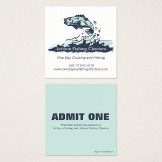 La carta de la pesca admite un boleto y la tarjeta