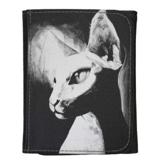 La cartera original felina del arte del gato de Sp