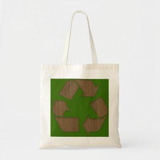 La cartulina recicla el bolso del símbolo bolsa de mano