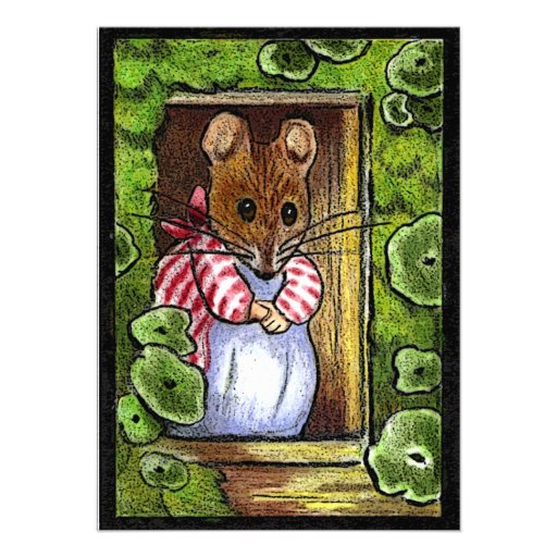 La casa abierta invita: Señora Tittlemouse At Door Anuncios Personalizados