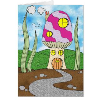 La casa de hadas del Toadstool embroma la tarjeta